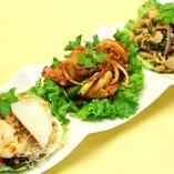タイサラダの三種盛り (ヤムチャオタイ)