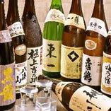 こだわりの日本酒は全国から評判の良い銘酒を取り揃えました!