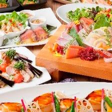 最大60名様の大宴会海鮮料理に舌鼓