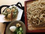 春野菜のかき揚げ天ざる蕎麦(春限定)