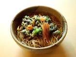 春野菜のかき揚げ蕎麦(うどん)春限定