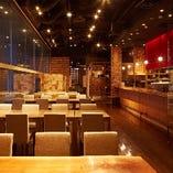 専用キッチン完備の着席60/立食80名様まで貸切フロア併設
