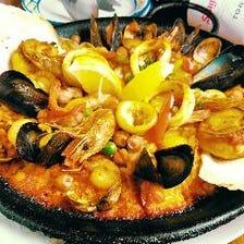 魚介のマリスコス パエリア