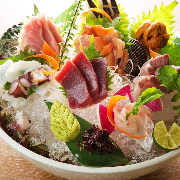 【極上刺身盛】築地直送の厳選鮮魚 いっきゅう自慢の逸品