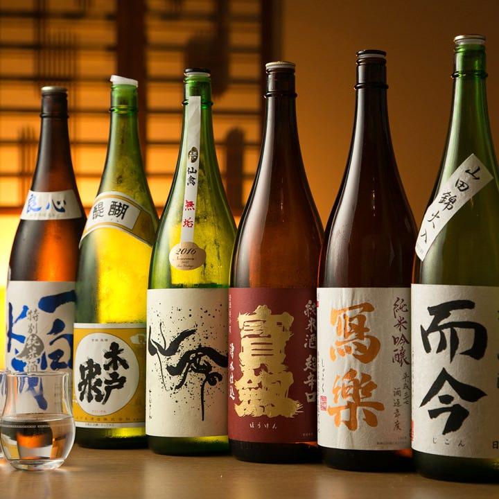 日本全国 旬の厳選日本酒を多数取り揃えております
