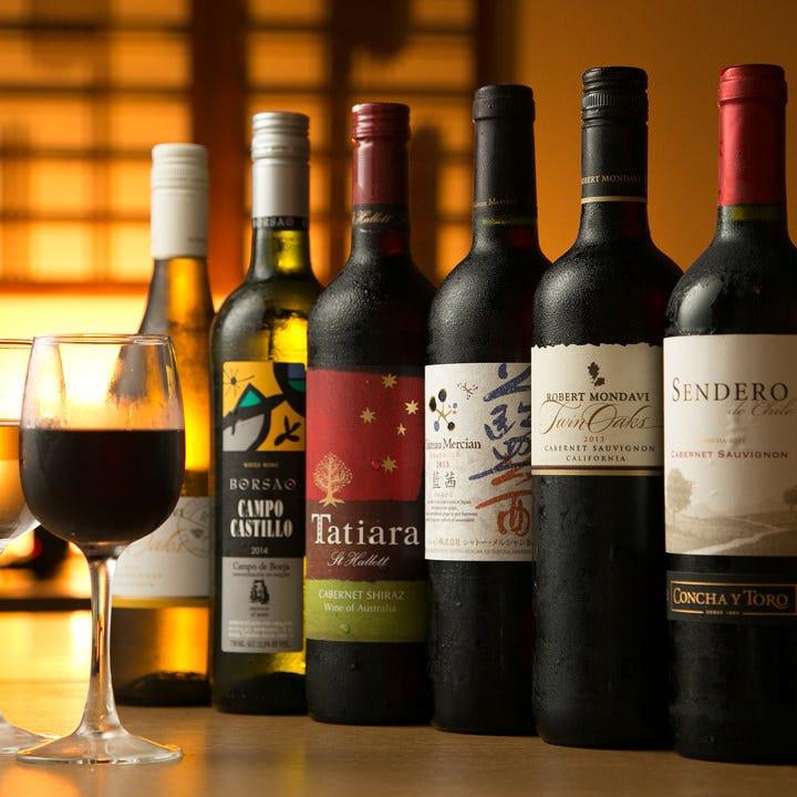 肉料理にも合うワインは赤・白6種類ずつご用意