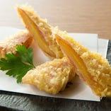 干し芋と生ハムの天ぷら