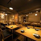 落ち着いた和の個室。ご宴会は最大32名様まで。