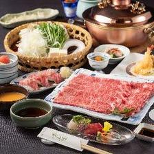 <極>【特選A5サーロインと特選牛炙り寿司を堪能】しゃぶしゃぶ会席/8400円
