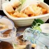 宴会コースに合わせてお楽しみただける「飲み放題プラン」もご用意。鮮魚を引き立てるお酒が勢ぞろい