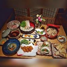 究極の牡蠣ふらい・焼き牡蠣2種と佐賀県みつせ鶏土手鍋を愉しむ牡蠣尽くしの全8品10,000円コース