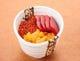10種類のネタの中からお好きなネタを3つ選べる『三色丼』