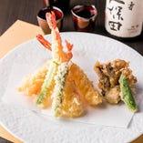 天ぷら盛り合わせ(海老・野菜)