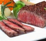 黒毛和牛のステーキ御膳