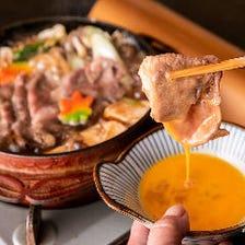 【すき焼き】肉のスペシャリストが厳選した国産黒毛和牛のすき焼きは絶品!