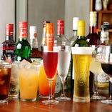 豊富な飲み放題メニュー