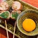 すき焼き串(卵黄付き)