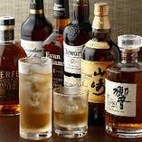 ウイスキーの種類も豊富です!