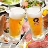 焼き肉にぴったりの生ビール!