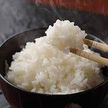 コシヒカリの一等米だけを使用したご飯は主役級の旨味!