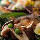 秋を堪能出来る焼物、 松茸こんろ焼と子持ち鮎塩焼