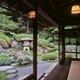 庭園「石翠」 一階大広間「藤」からの眺め