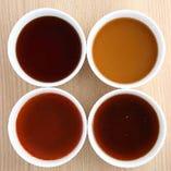 全6種類のお出汁よりお好きな2種類をお選びください。