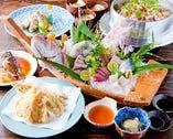 漁師の恵み舟盛りコース ¥5.000→¥4.500(要予約)