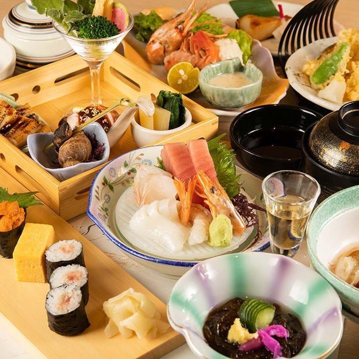 【寿し会席 6,000円(税抜)】四季折々の各種行事やご法要など、大切な会食に|宴会・会食・法事