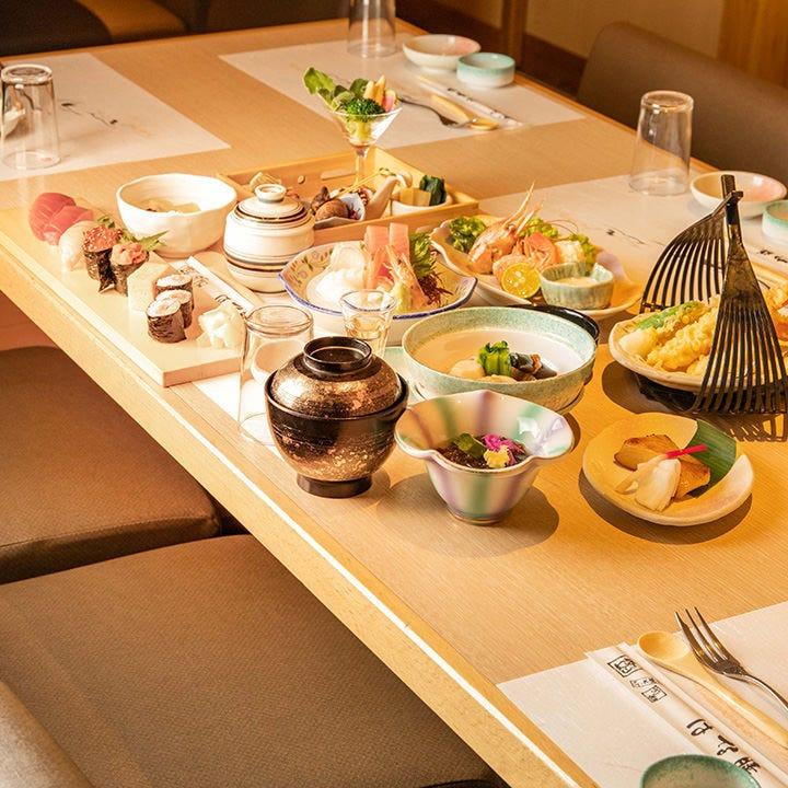 【寿し会席 8,000円(税抜)】接待や両家顔合わせにふさわしい、ワンランク上の会席料理|宴会・会食・法事