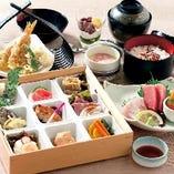 【季節の会席膳】 旬が詰まった会席膳は2,900円(税抜)