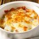 北海道直送のインカのめざめのオーブン焼はチーズがたっぷり
