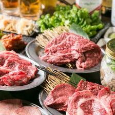 【120分食べ放題】ロースステーキや上塩タンも。大満足の贅沢『プレミアムコース』<全79品>|宴会
