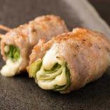 【野菜豚巻き串】レタスチーズ
