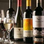 赤・白・スパークリングのワインを約30種取り揃えています!