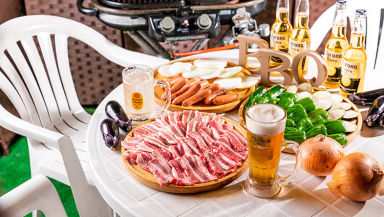 渋谷ビアガーデン テラスで贅沢BBQ H2【エイチツー】 コースの画像