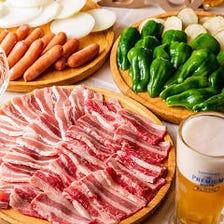 1番人気!贅沢お肉と新鮮野菜の『BBQコース』[2時間飲み放題付]