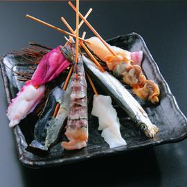 魚屋直営の当店おすすめ新鮮魚介串