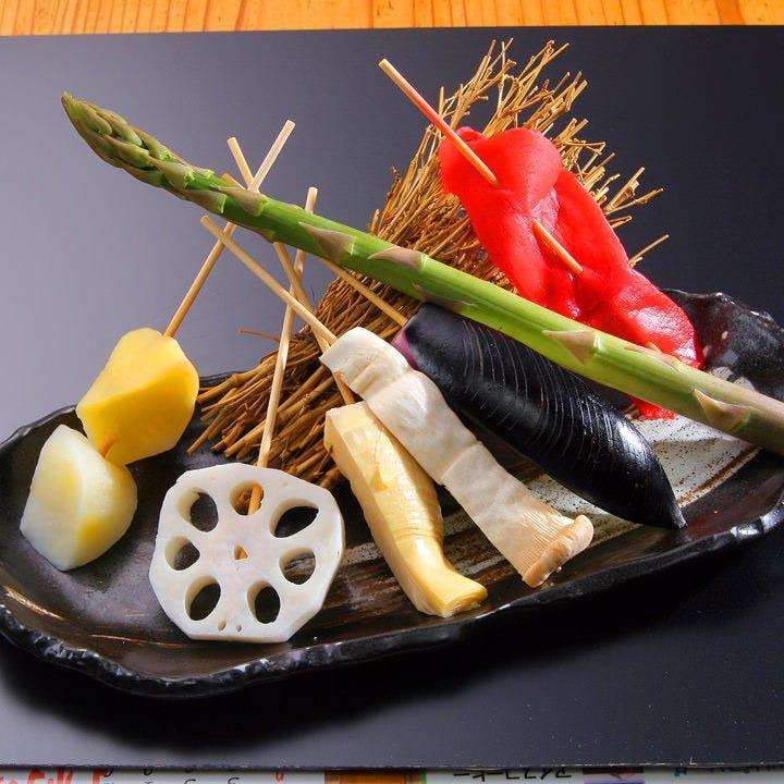 海鮮だけではなく、旬のお野菜も◎