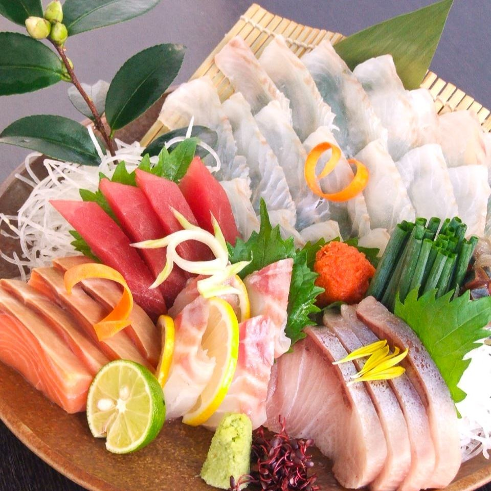 直送!生鯖と鮮魚のお造り