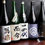 特選飲み放題はなんと日本酒約20種が対象!贅沢すぎる内容です。