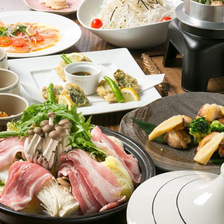 【料理のみ】お手頃な人気コース! 全7品『和み(nagomi)』コース 宴会 飲み会 女子会