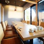【「プライベートテラス付」テーブル個室(10名様用×2室・8、14、20名様用×1室)】