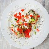 「牡蠣の前菜」色鮮やかで華やかな「カナッペ」