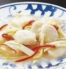 黄ニラと帆立貝のうす塩炒め