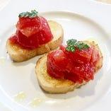 こだわりフルーツトマトのブルスケッタ (2P)
