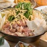 鶏肉とチーズのチゲ鍋