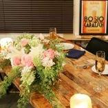 結婚式二次会に高砂席をご用意!お花・お酒など持ち込み自由