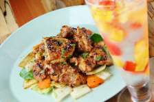 鶏肉と野菜のスパイス炒め