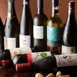 ワインは自然派のみご用意
